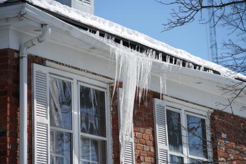 house gutter ice dam
